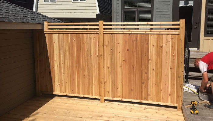 Cedar Wood Fencing and Privacy Walls in Ottawa.