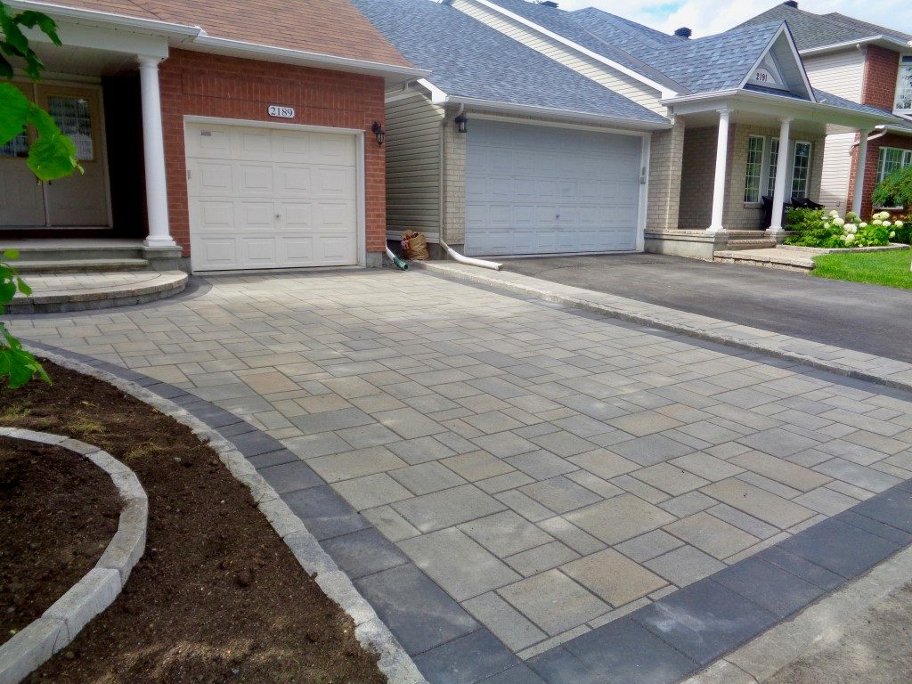 Paver Driveway Designed and Built By Alan's Landscaping and Heather's Gardens.