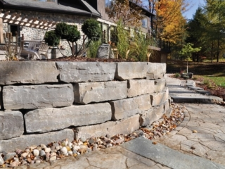 Retaining Wall Built By ALHG